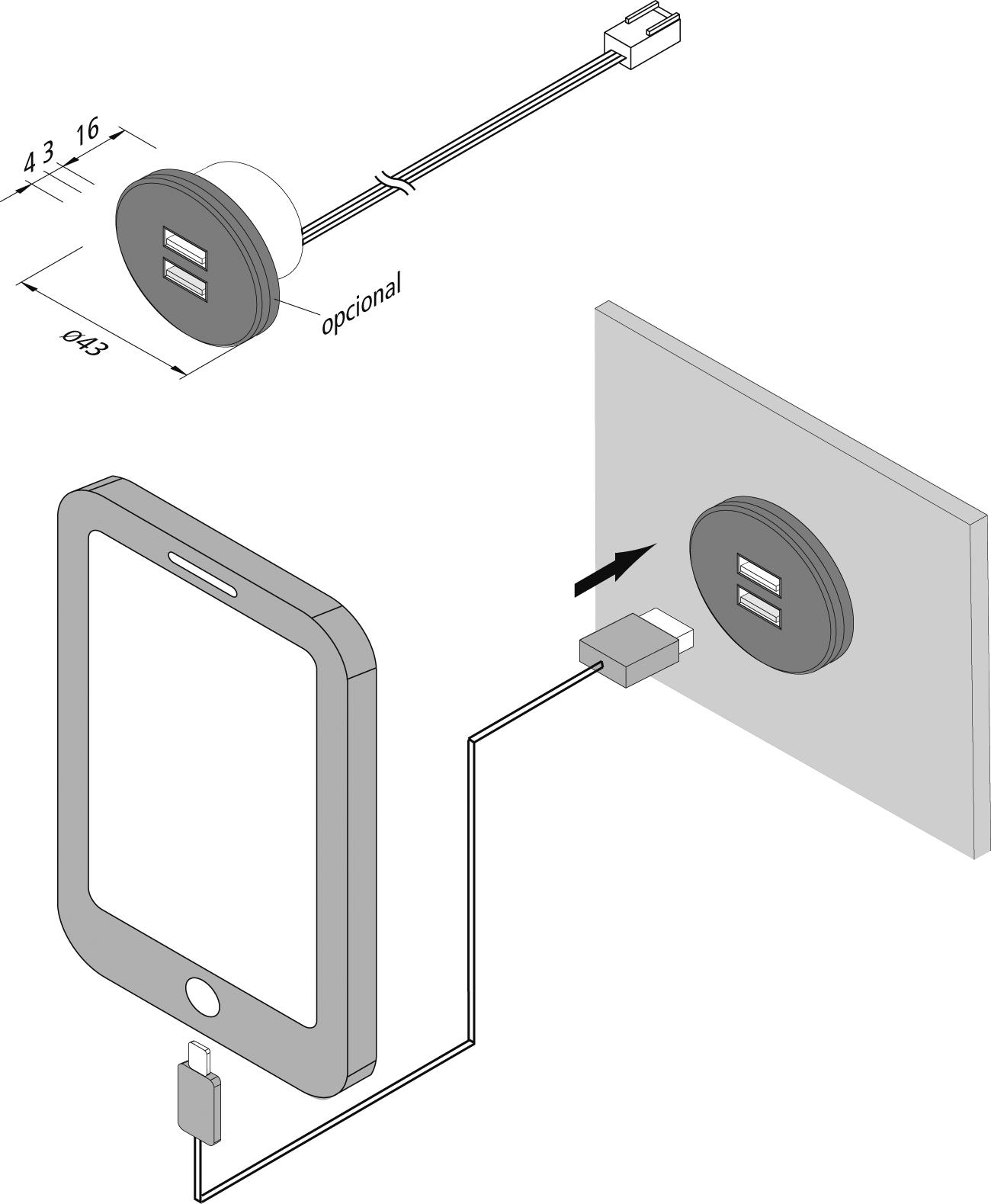 Vista preliminar: USB-Doppelsteckdose_es