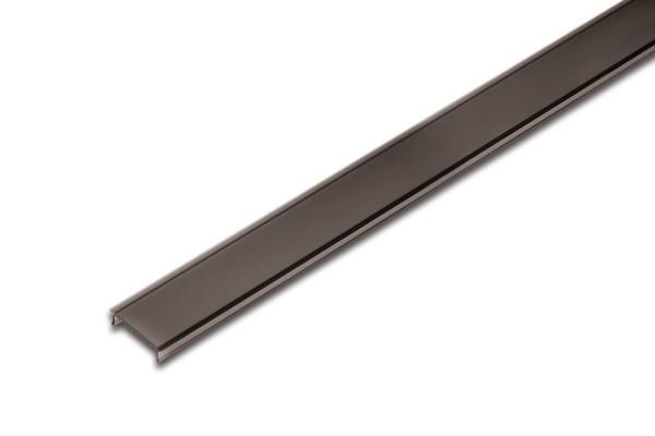 LED Abdeckprofil 15mm 1m, leicht schwarz mattiert