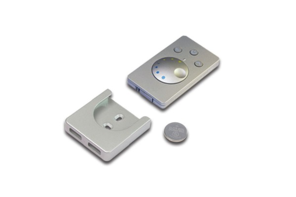 Surface mounted remote control Dynamic stainless steel look