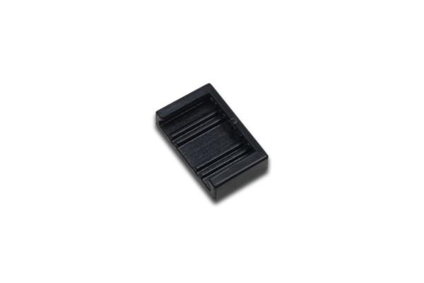Flat-Track Endkappe schwarz