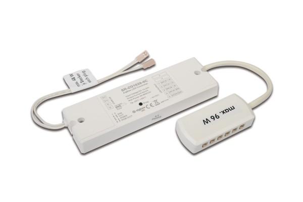 24V Dim-Controller ZigBee / Alexa 96W with 12-way distributor