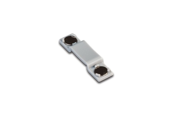 Flat-Track magnet holding clip grey