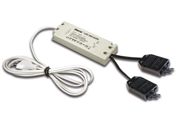 Trafo LED 350/2x9W 2x3-fach Verteiler + 2 Kurzschlussstecker Euro